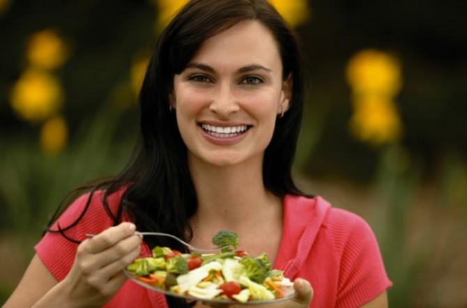 правильное питание, овощной салат