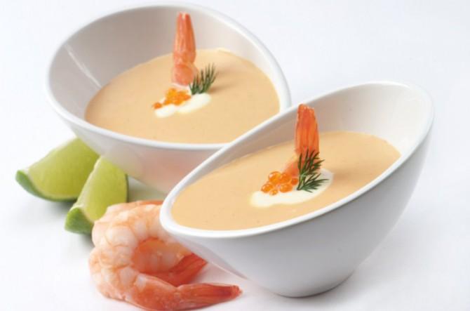 крем суп с морепродуктами