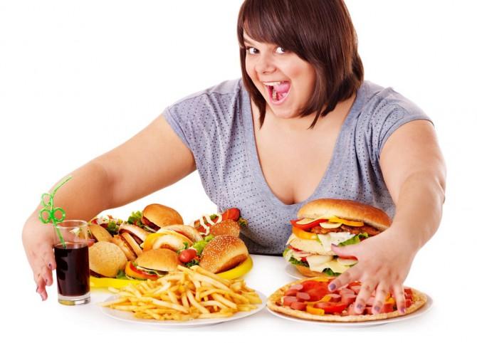 неправильное питание, избыточный вес