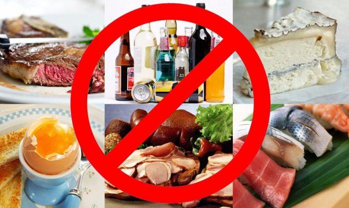 От каких продуктов следует воздержаться