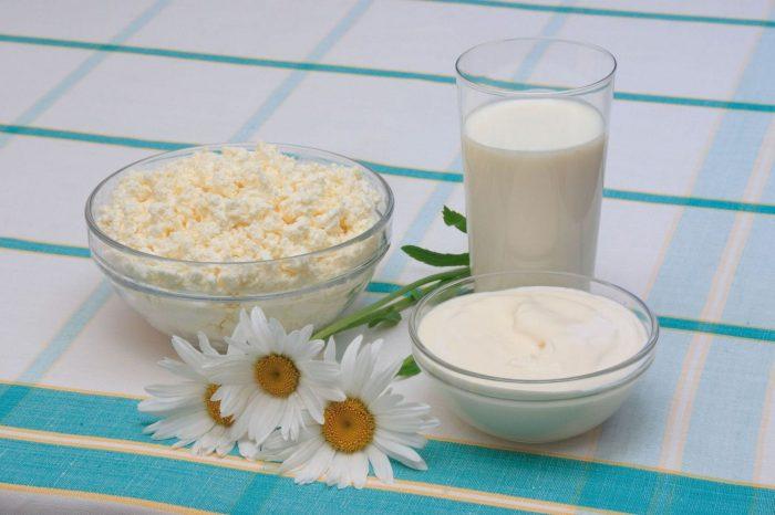 Творог и молоко