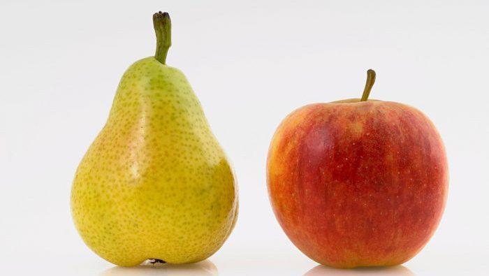 Груша и яблоко