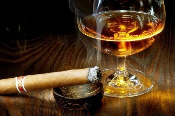 сигарета и алкоголь