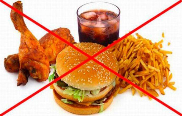 запрещенные продукты при гастрите