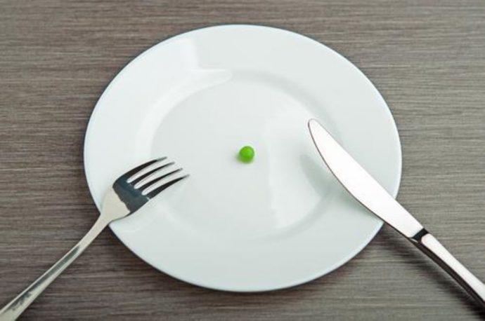маленькие порции еды