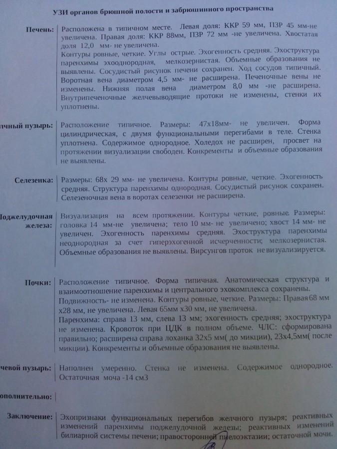 протокол обследования узи