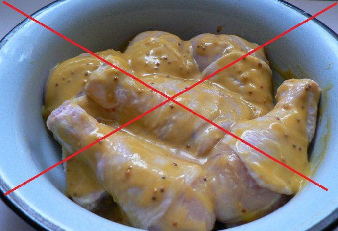 соусы, пряности запрещены