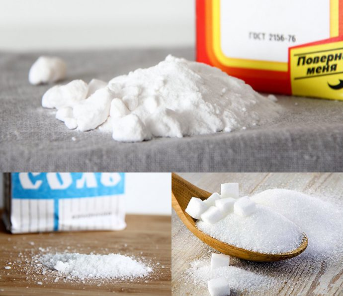 соль, сахар, сода