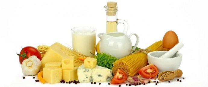 список рекомендованных продуктов