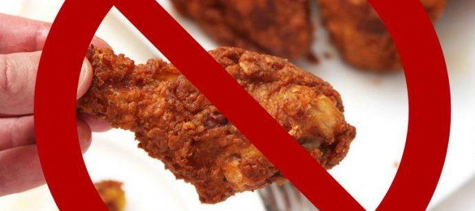 жирная еда противопоказана