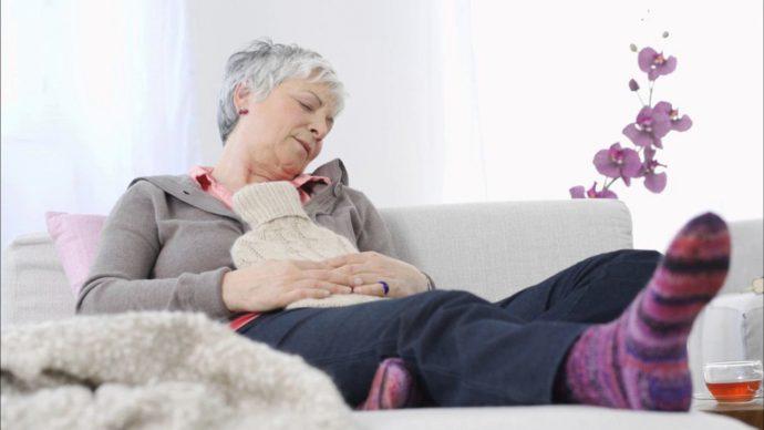 увеличения живота у пожилых женщин
