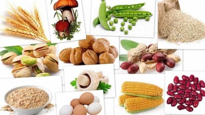 орехи, грибы, кукуруза, фисташки, бобовые