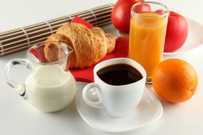 кофе с молоком, после завтрака