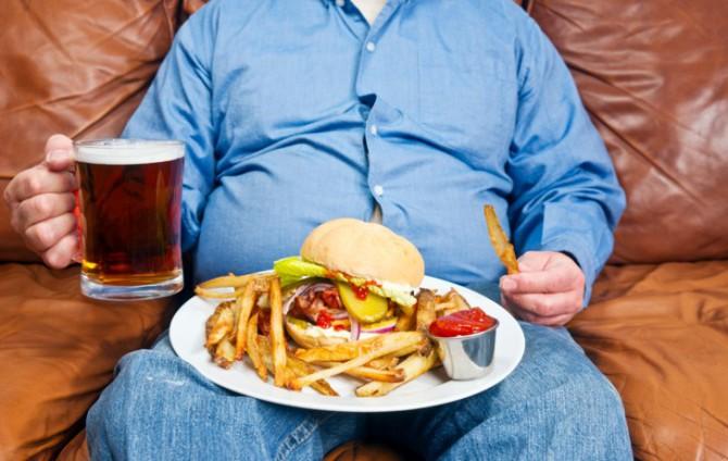 неправильное питание, вредные привычки