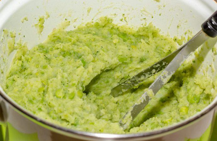 картофельное пюре с брокколи