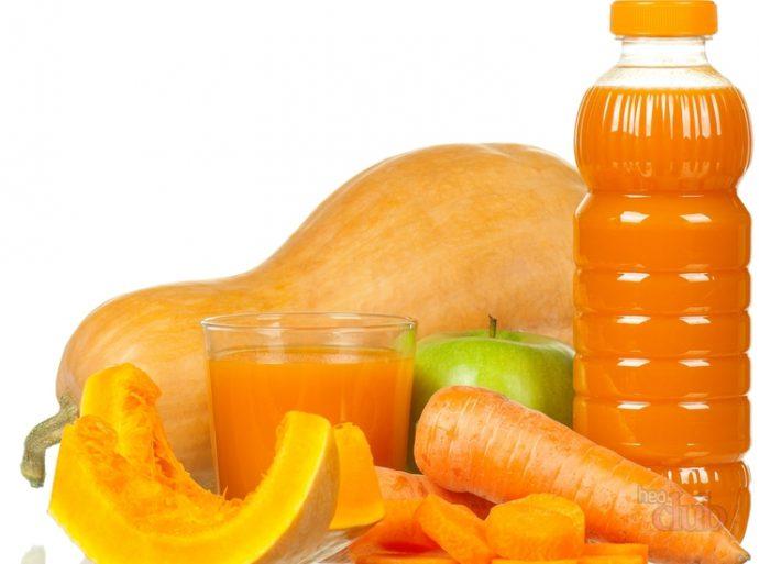 Свежевыжатый тыквенный сок для лечения гастрита
