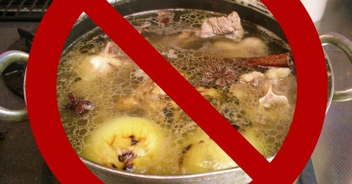 мясной бульон запрещен