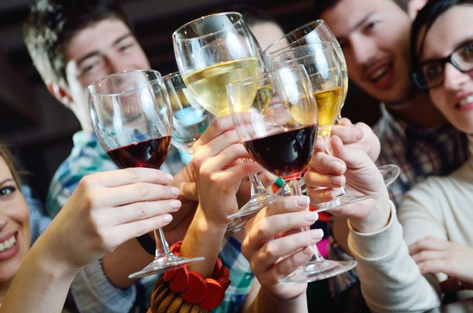употребление спиртных напитков