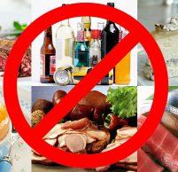 Что можно есть при отравлении, список запрещенных продуктов