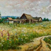 Картины сельский пейзаж